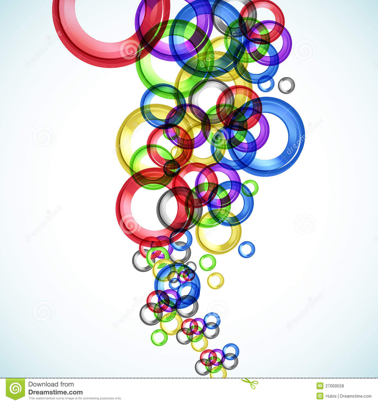 Abstract Color Circle Background Royalty Free Stock Photos