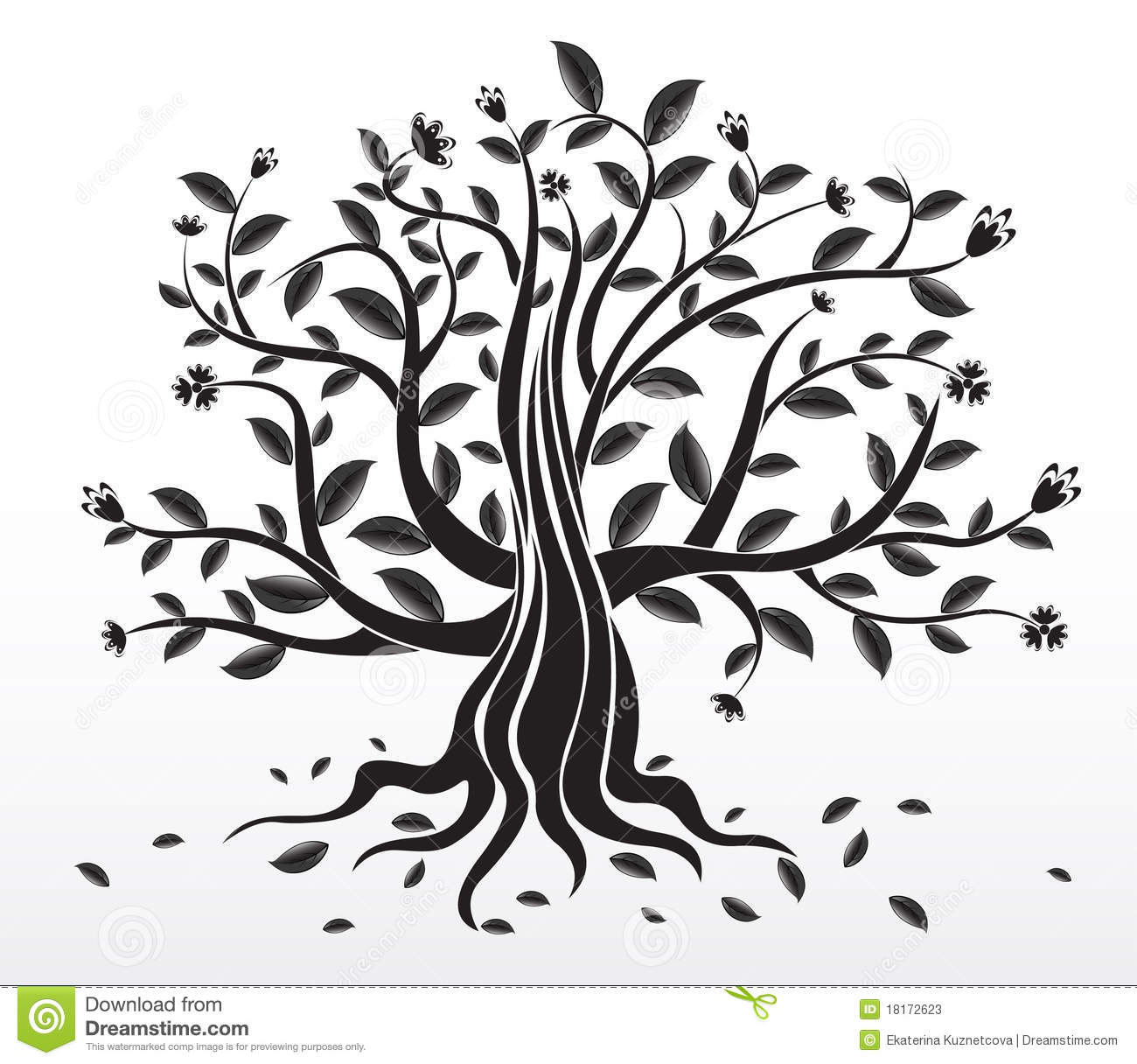 Abstract Creative Tree Stock Vector Image Of Flower