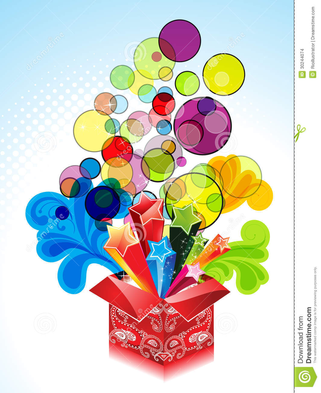 Abstract Explode Magic Box With Floral Stock Images