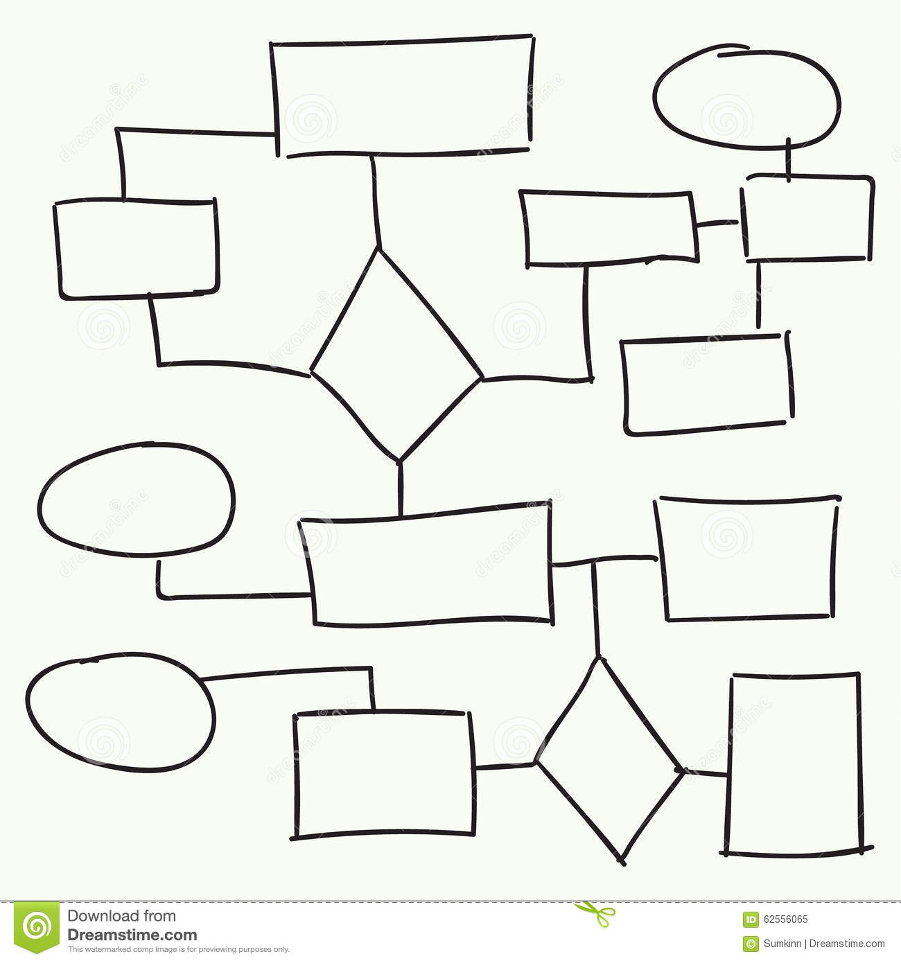 Abstract Flowchart Vector Design Stock Vector