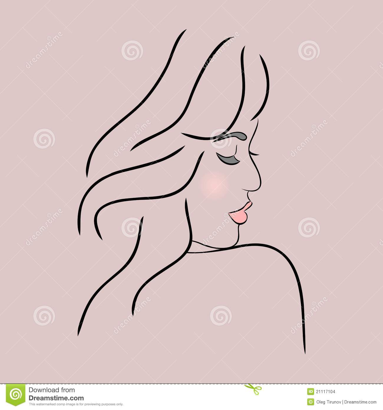 Abstract Girl Face Profile Stock Images Image 21117104