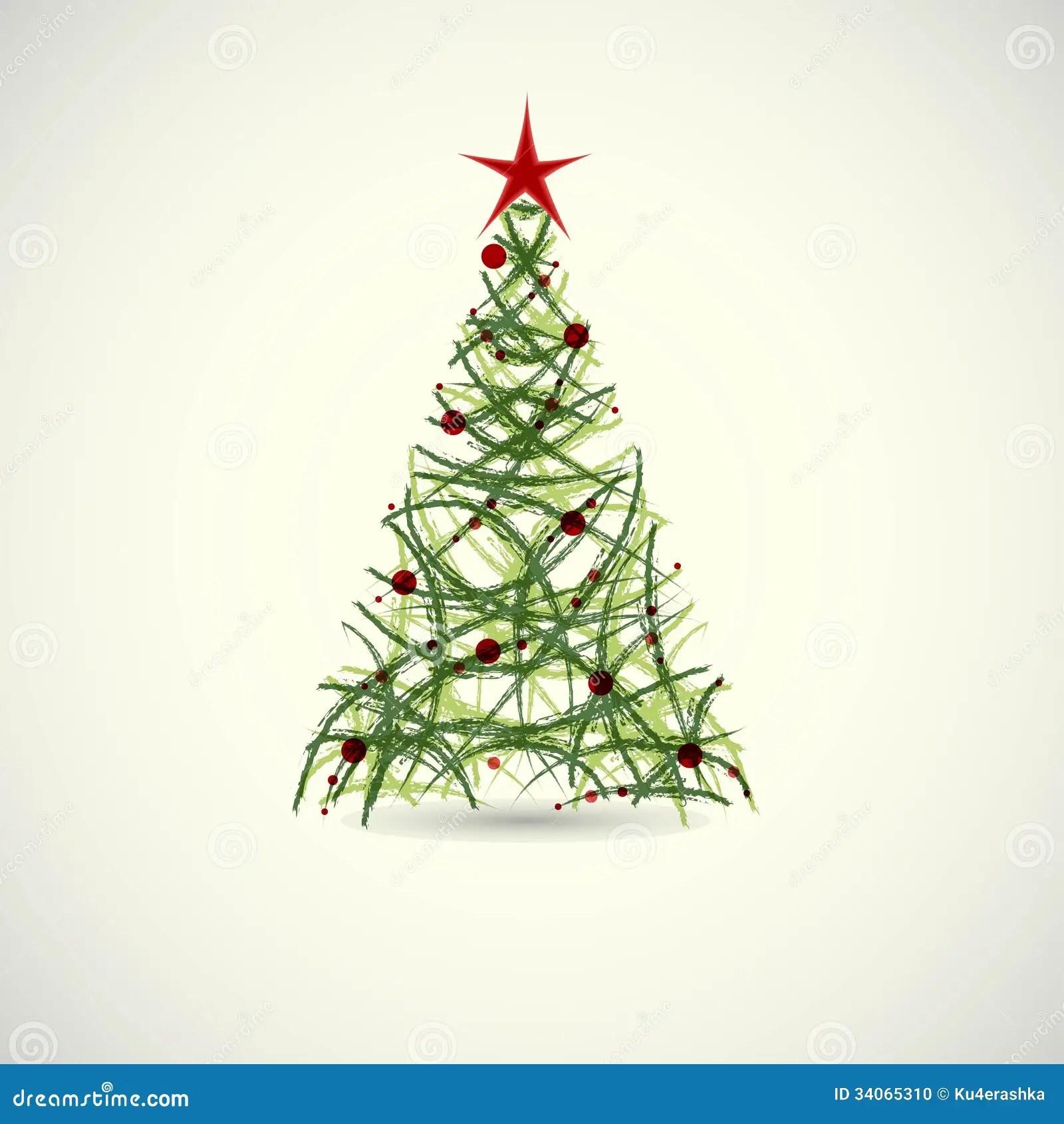 Abstract Green Christmas Tree Vector Stock Vector Image