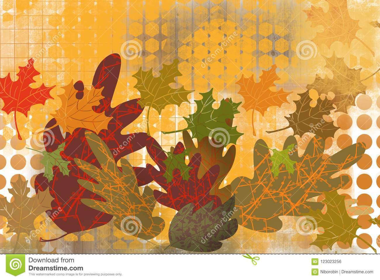 Abstract Grid Background With Artistic Layers Of Hand