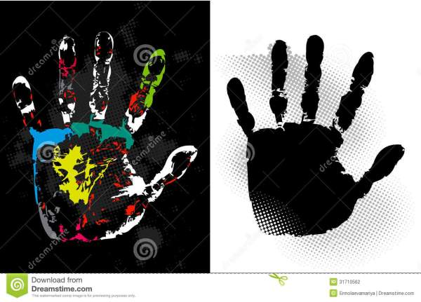 Abstract Grunge Hand Style. Vector Art Stock Vector ...
