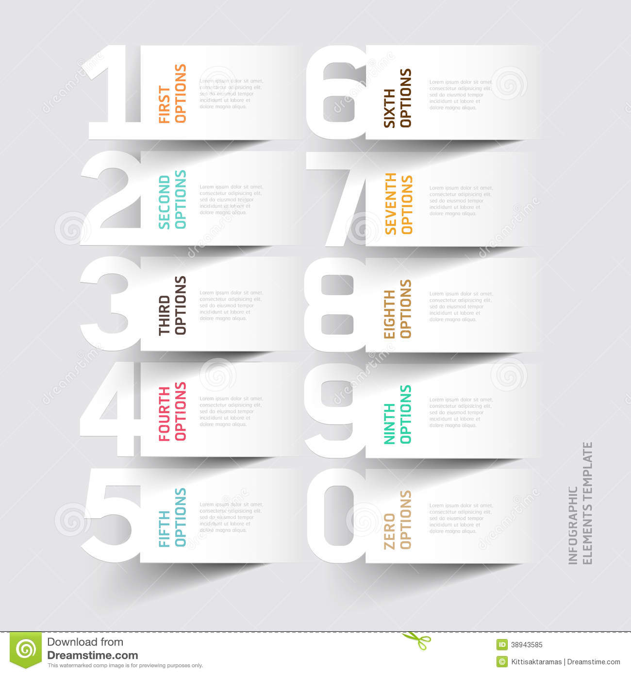 Abstract Infographics Number Options Template Stock Vector Image 38943585