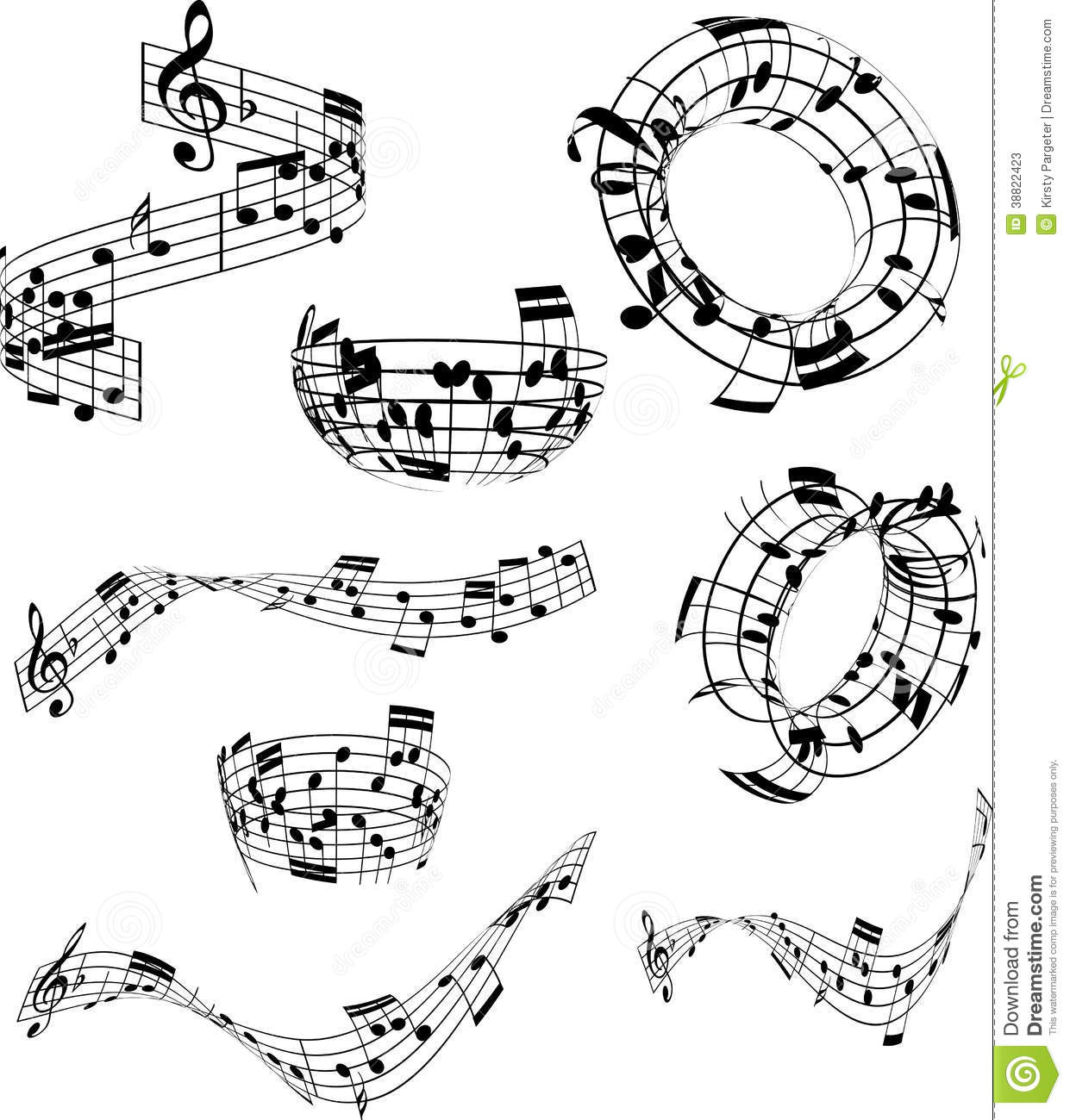 Abstract Music Notes Stock Vector Illustration Of Tune