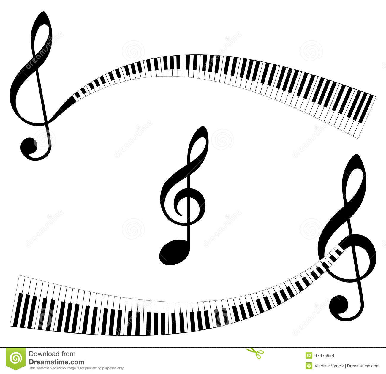 Abstract Music Symbols Stock Vector Illustration Of