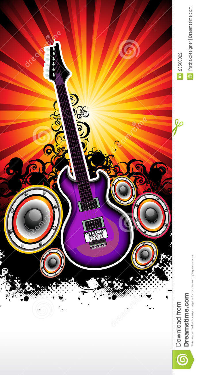 Abstract Musical Guitar Rock Band Concert Template Stock Photography Image 23568822