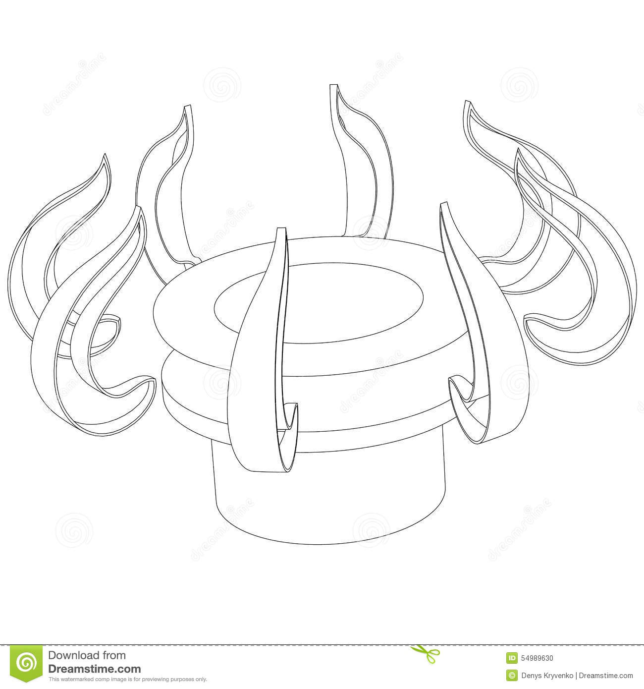 Stock Photo Abstract Outline Of The Gas Burner On A White