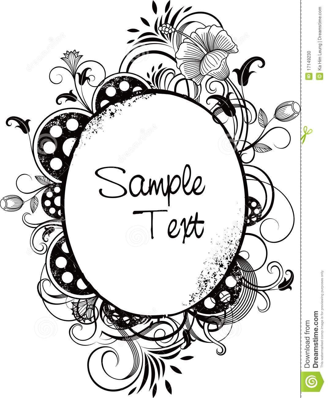 Abstract Oval Frame Stock Vector Image Of Stain Floral