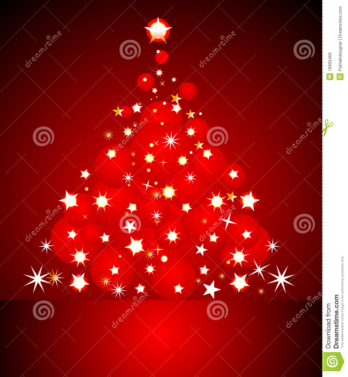 Abstract Red Christmas Card Stock Vector Image 16900469