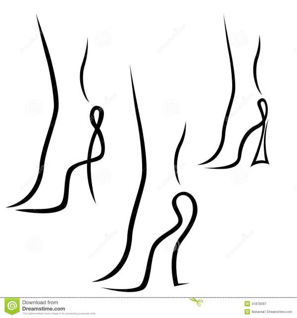 Abstract Samples Of Graceful Female Feet Stock Vector ...