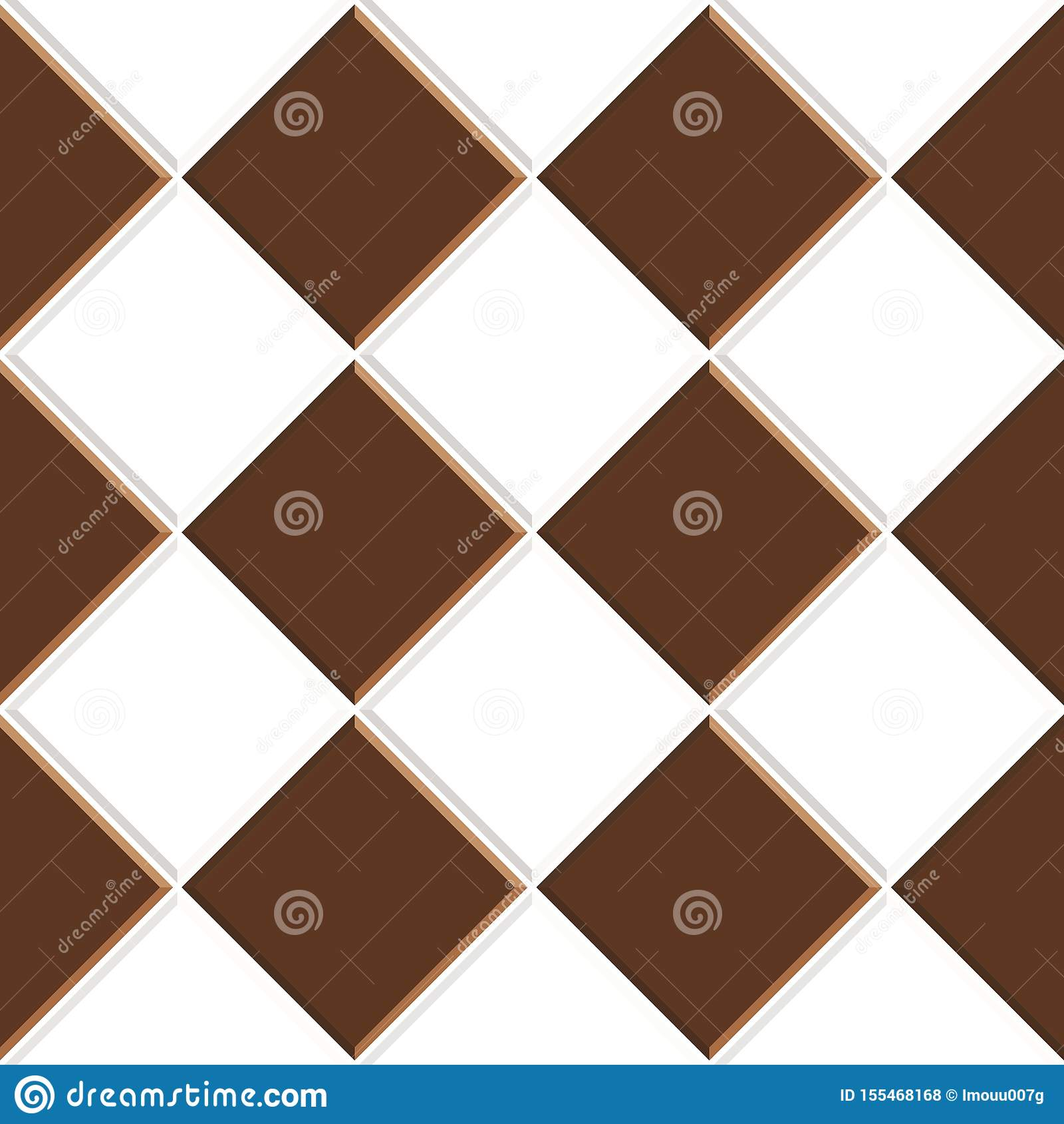 https www dreamstime com abstract seamless pattern brown white ceramic floor tiles design geometric mosaic texture decoration kitchen image155468168