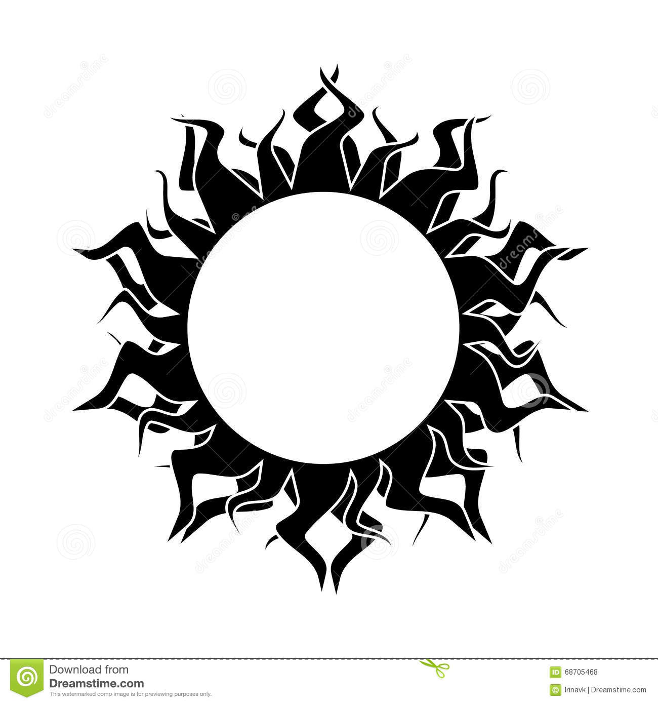 Abstract Sun Vector Stock Vector Illustration Of