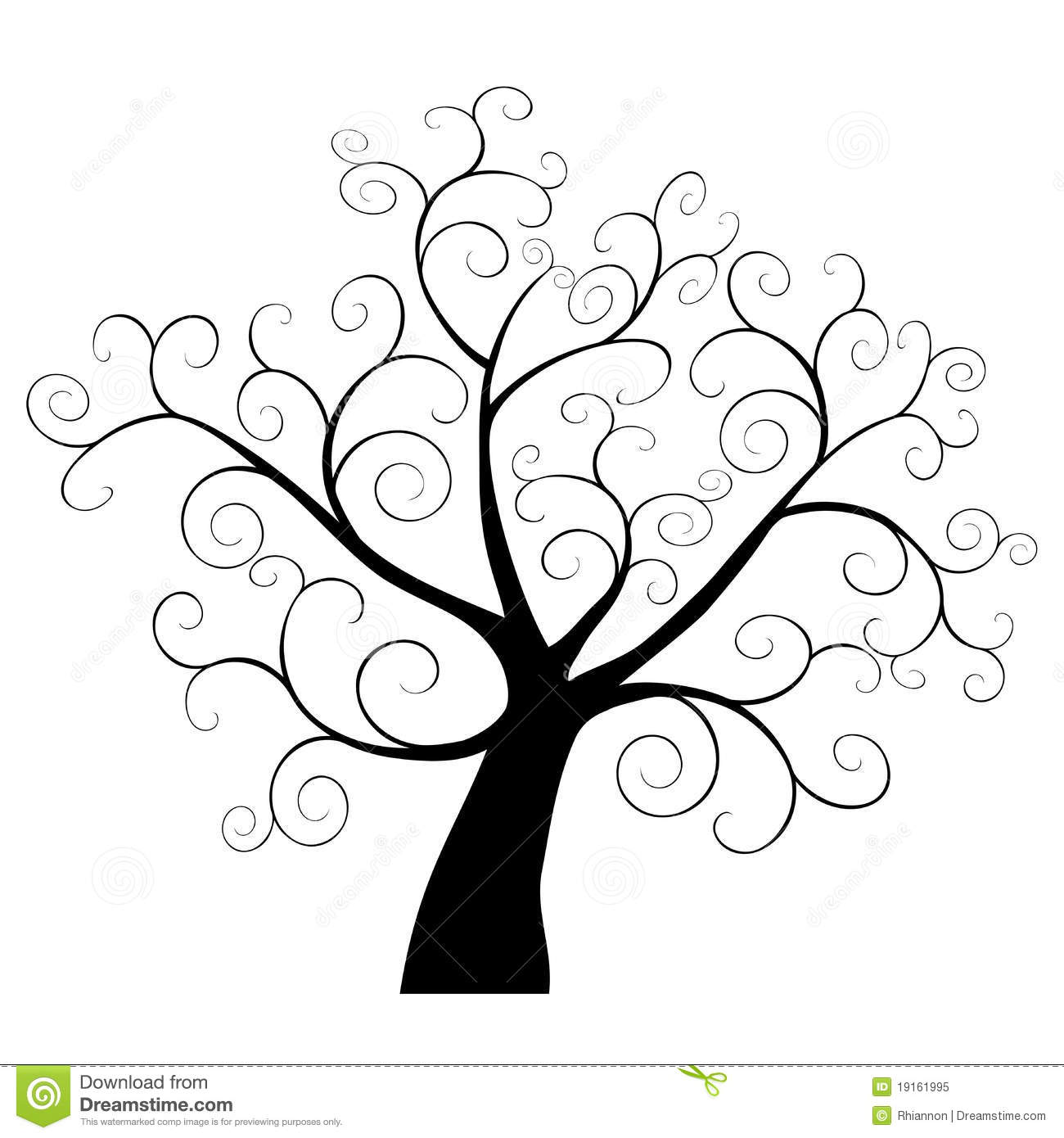 Abstract Tree Element Stock Vector Image Of Artistic