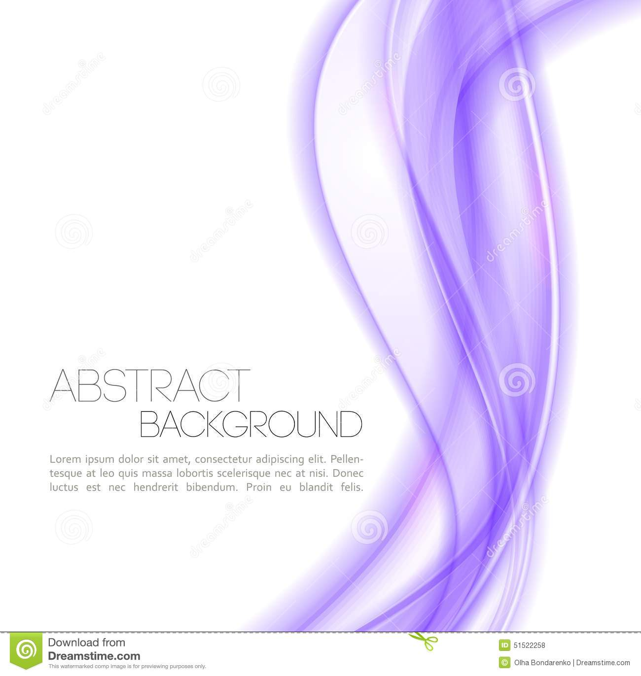 Abstract Violet Waves Background Template Stock Vector Image 51522258
