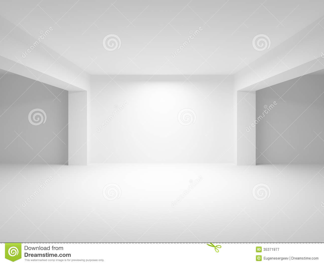 Abstract White Empty Interior Background Stock