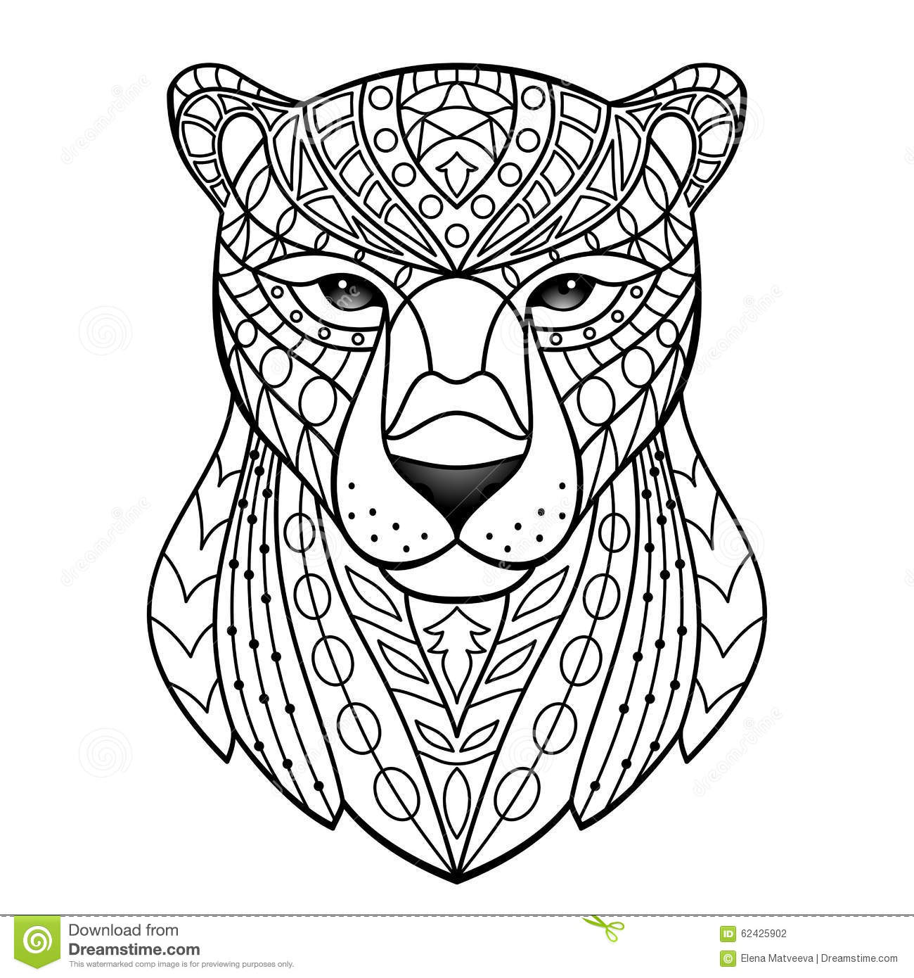 Abstract White Panther Stock Vector