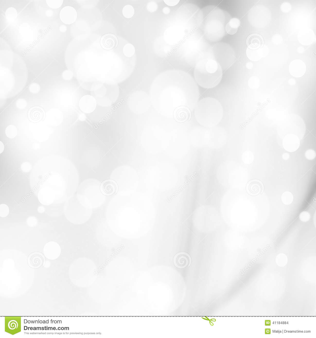 Abstract White Shiny Lights Silver Background Stock