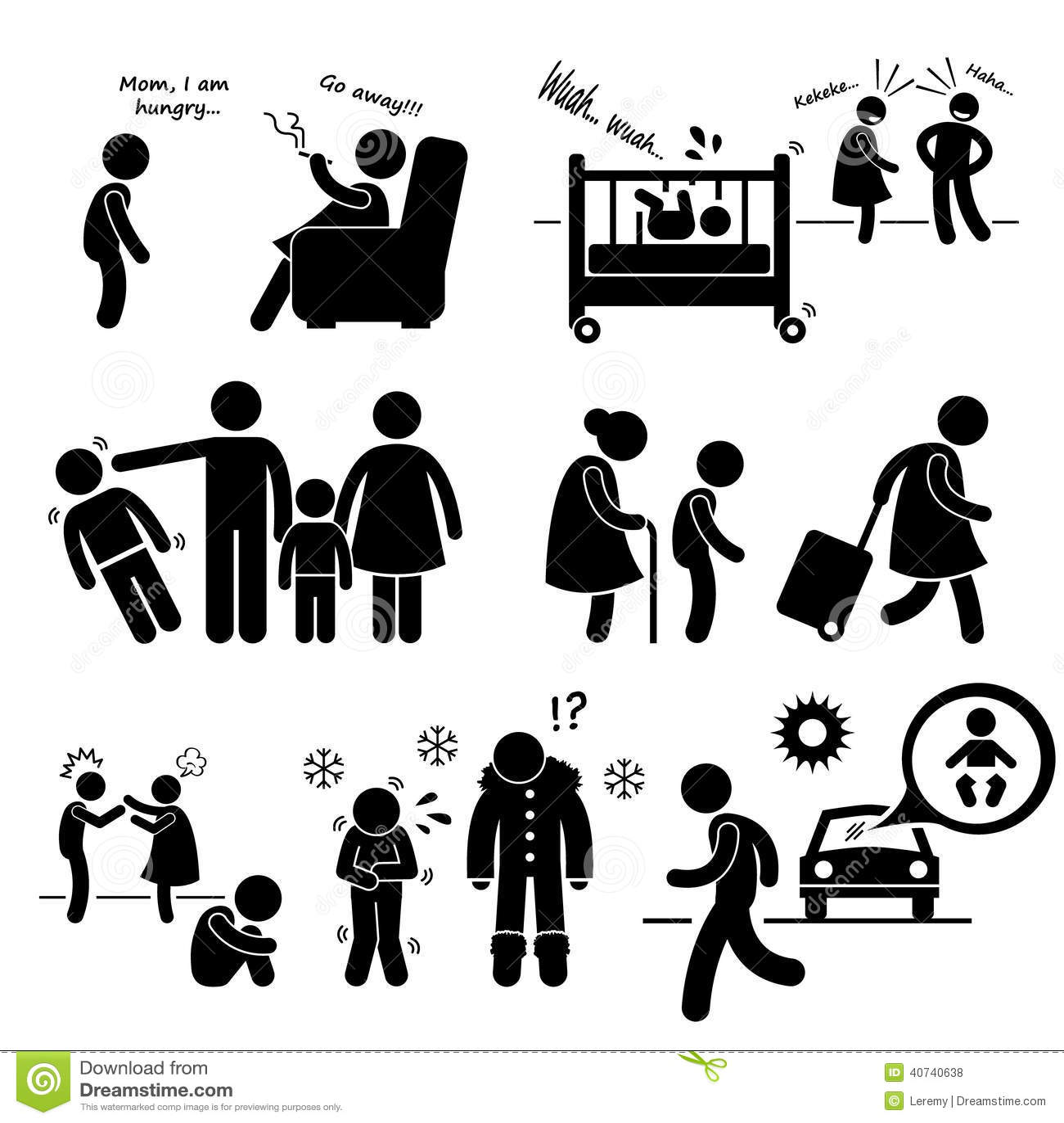 Abus Neglige Cliparts De Negligence D Enfant Illustration