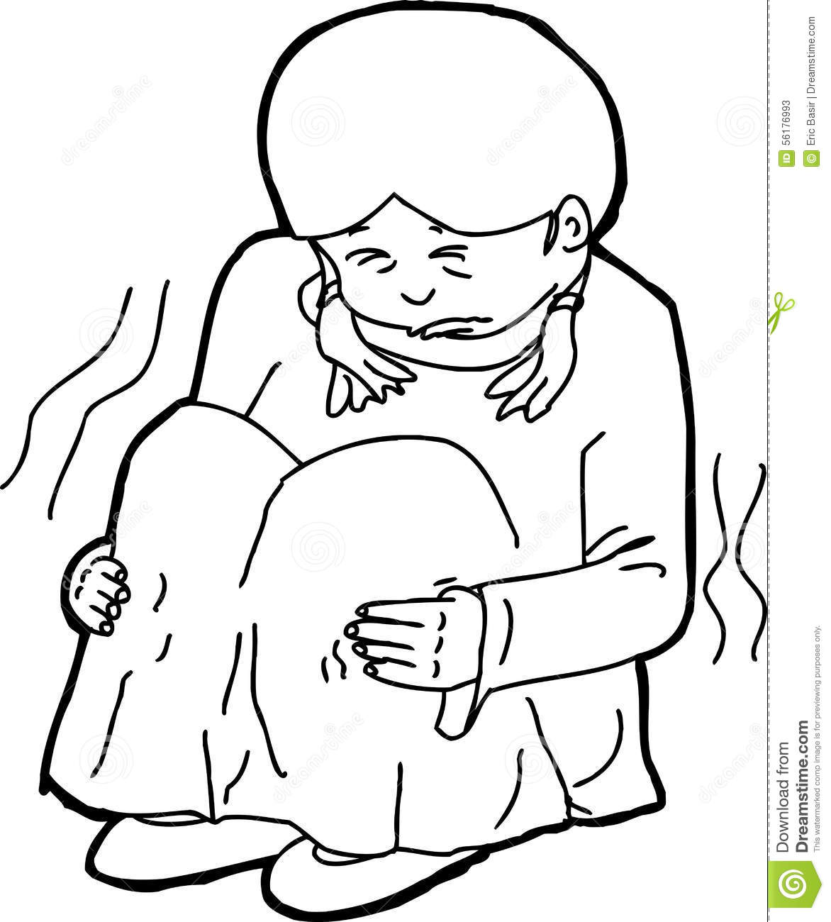 Abused Child Outline Stock Illustration Image Of