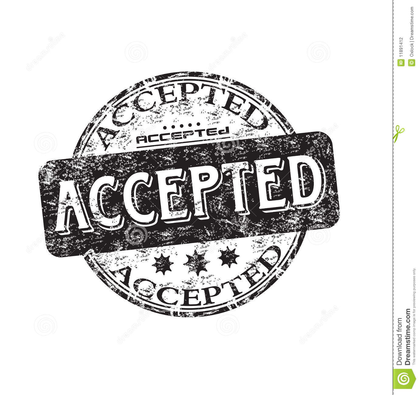 Accepted Grunge Rubber Stamp Stock Vector