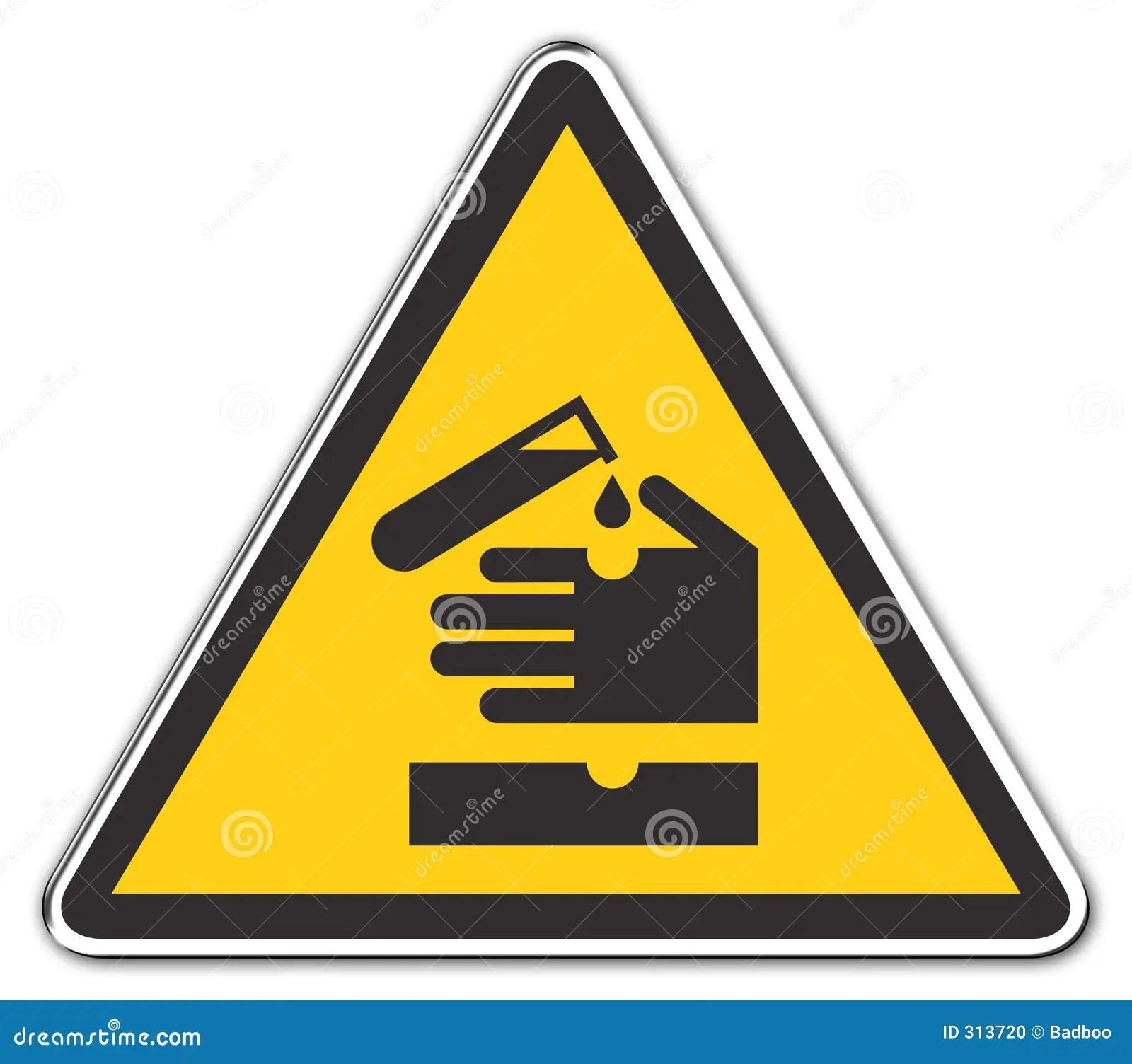 Acido D Avvertimento Illustrazione Di Stock Illustrazione
