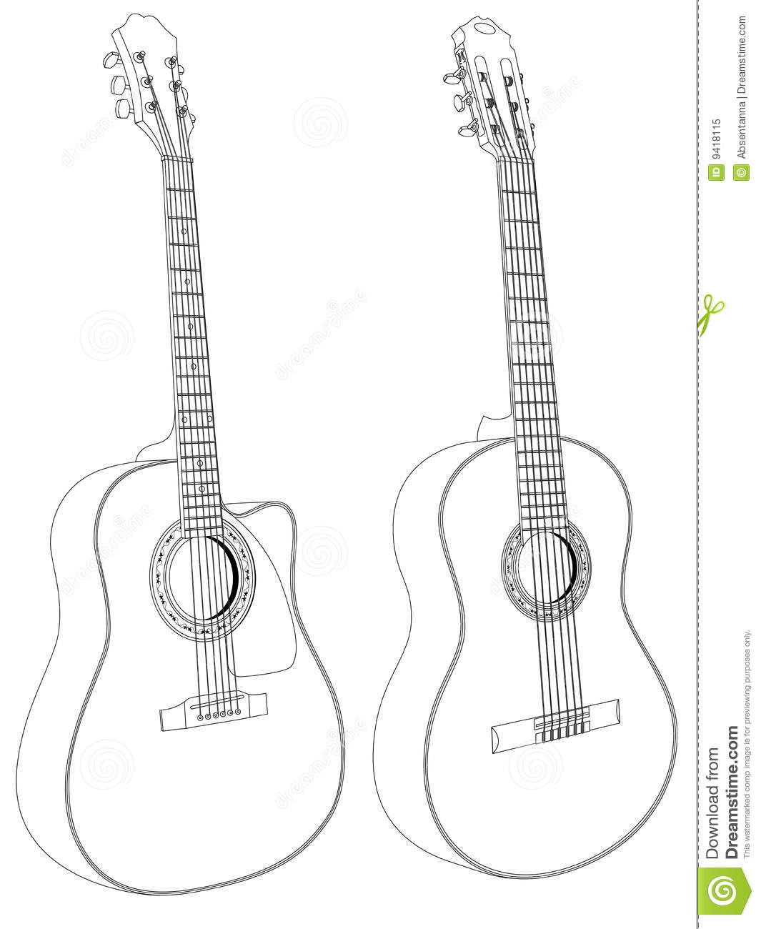Acoustic Guitars Royalty Free Stock Photo