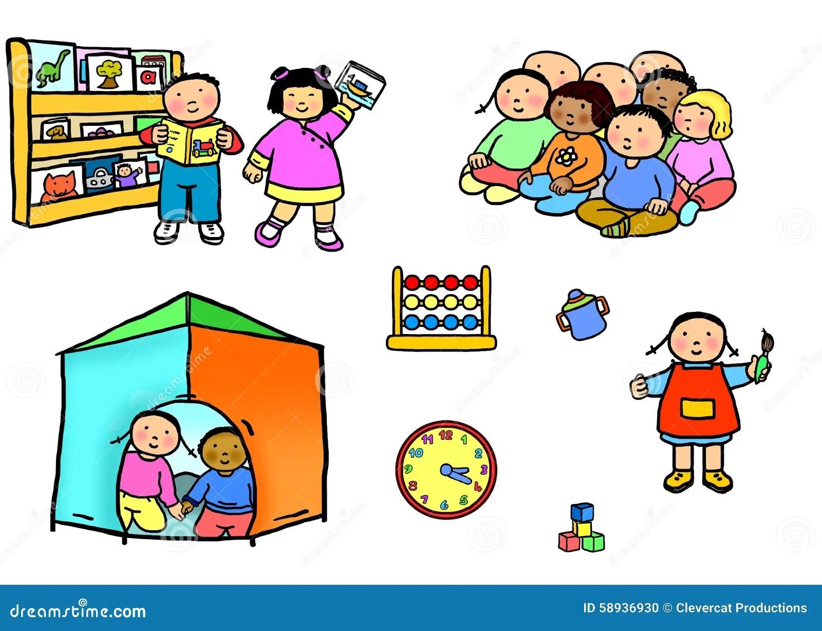 Activites De Playgroup Illustration Stock Illustration Du
