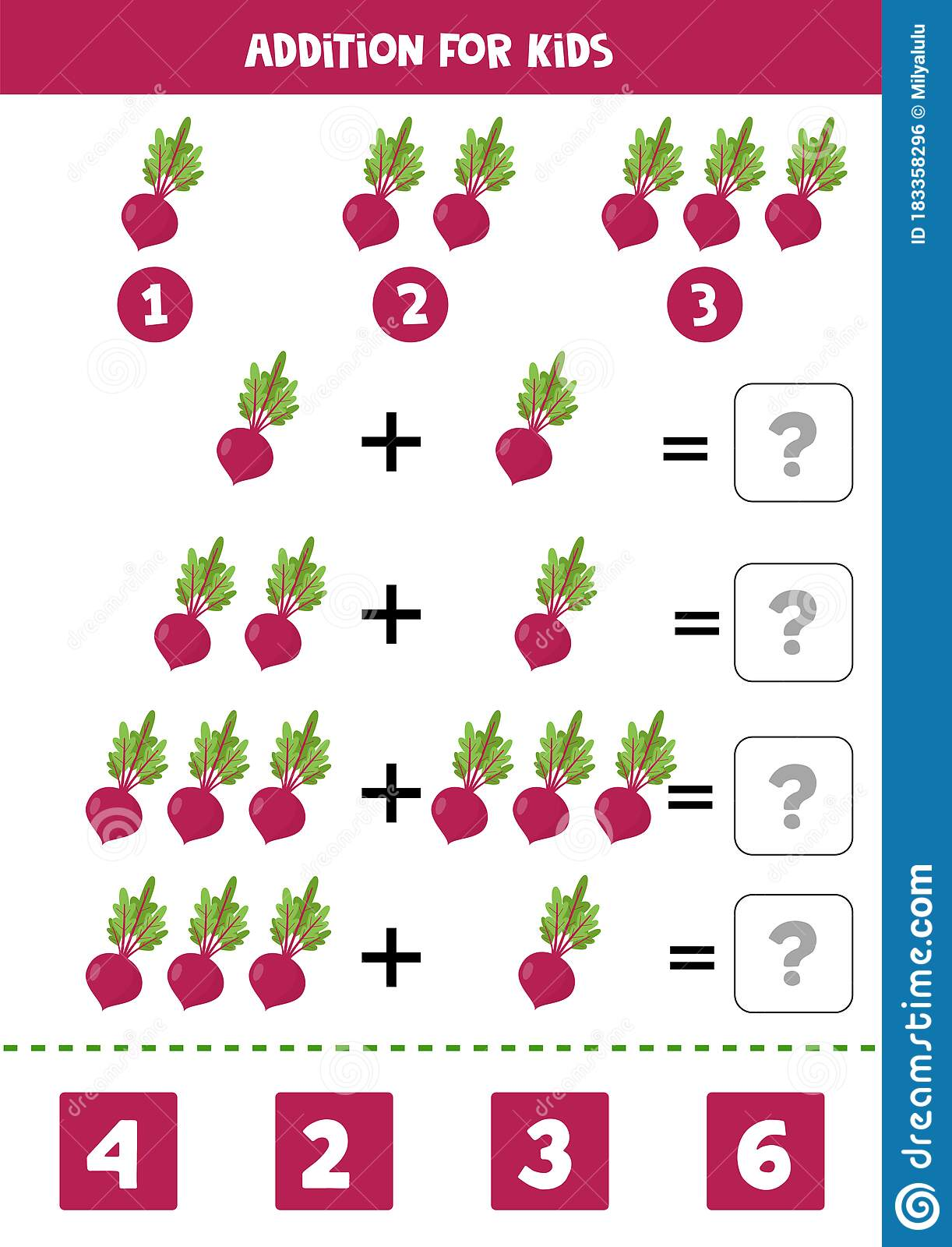 Addition With Beetroot Solve The Equation Math Game For