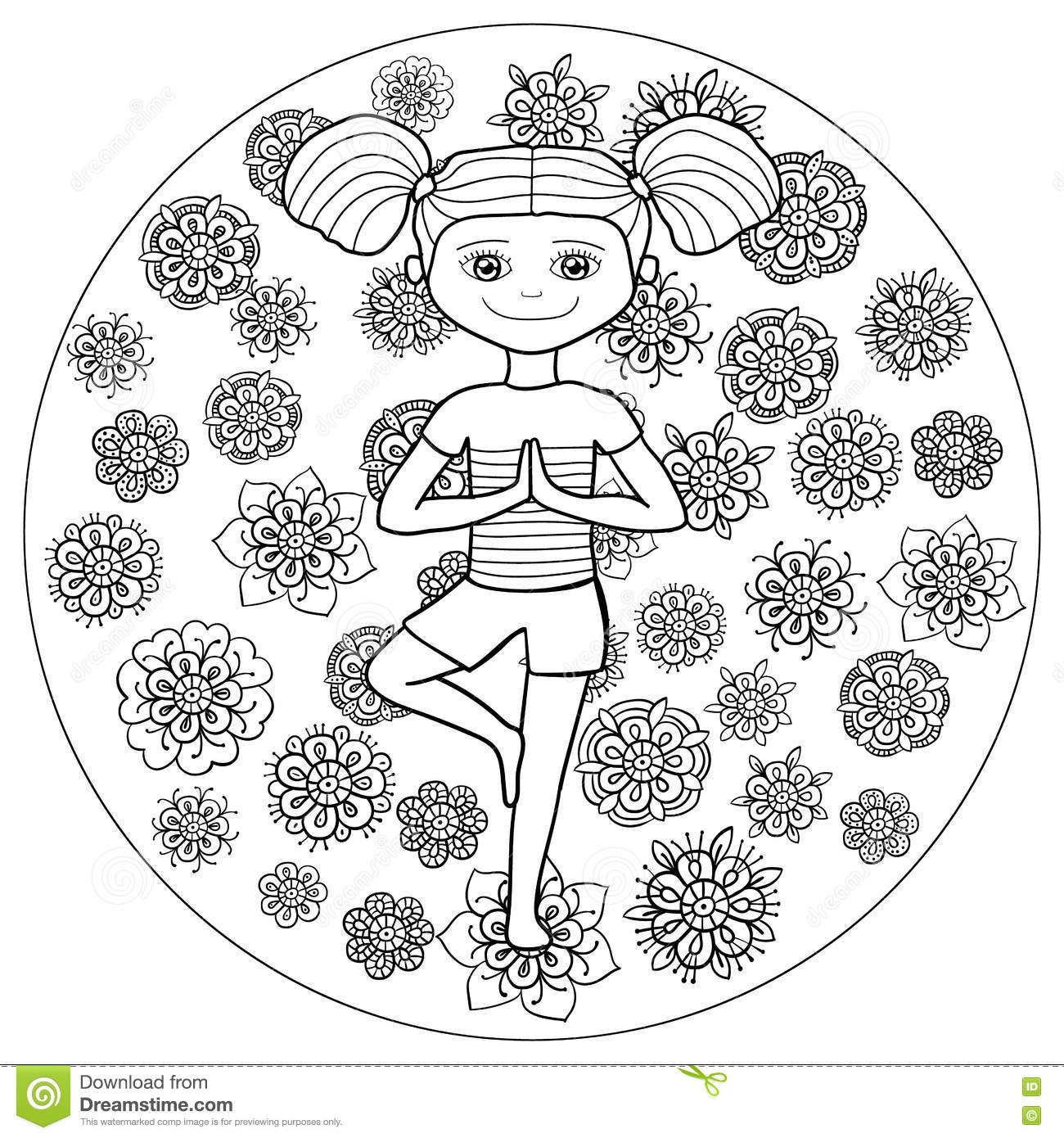 Coloring Pages Yoga Coloring Page