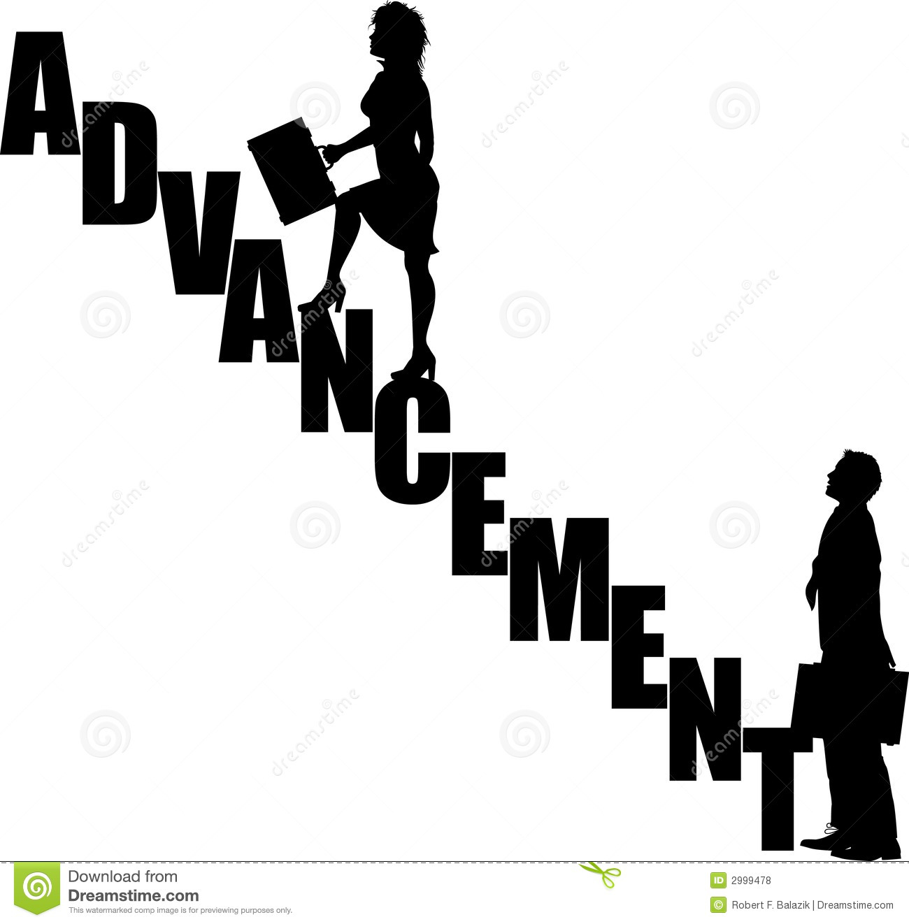 Advancement Stairs 3 Stock Vector Illustration Of