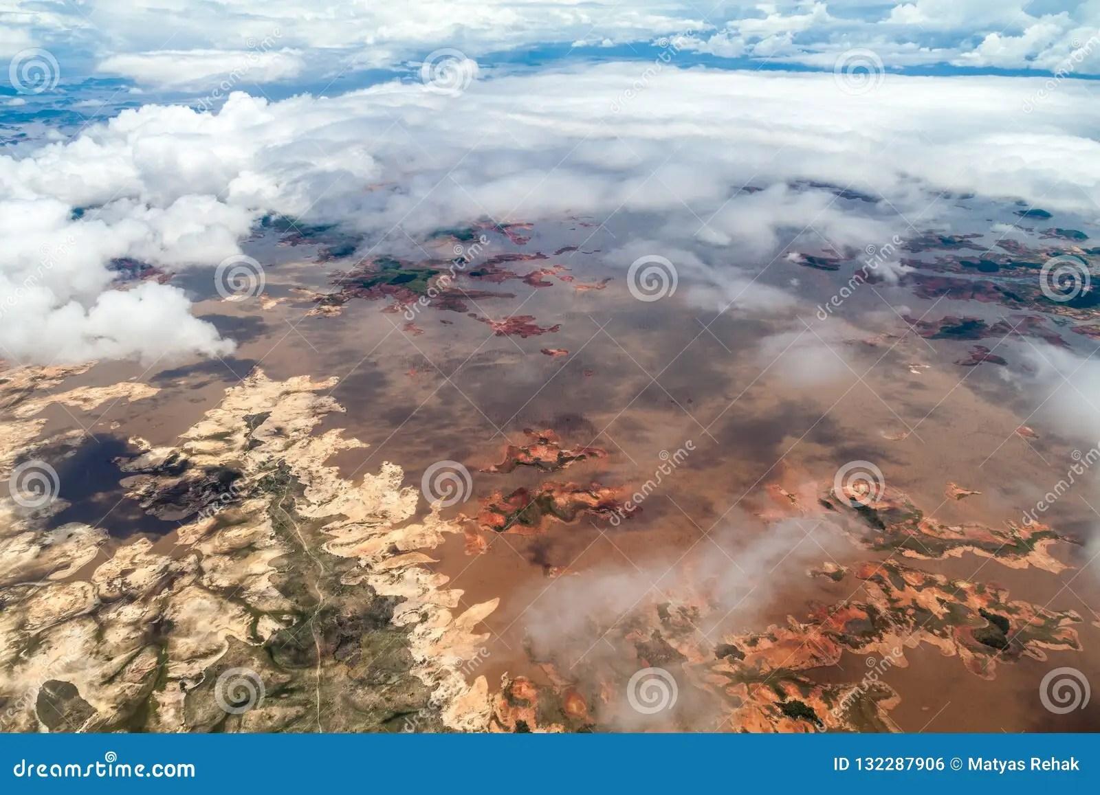 Aerial View Of Guri Reservoir Stock Photo