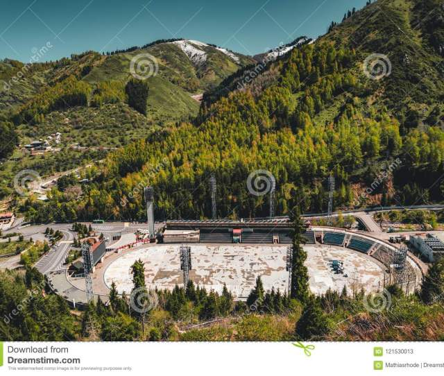 Aerial View Of The Medeo Stadium In Almaty Kazakhstan Medeo Stadium Is The Highest