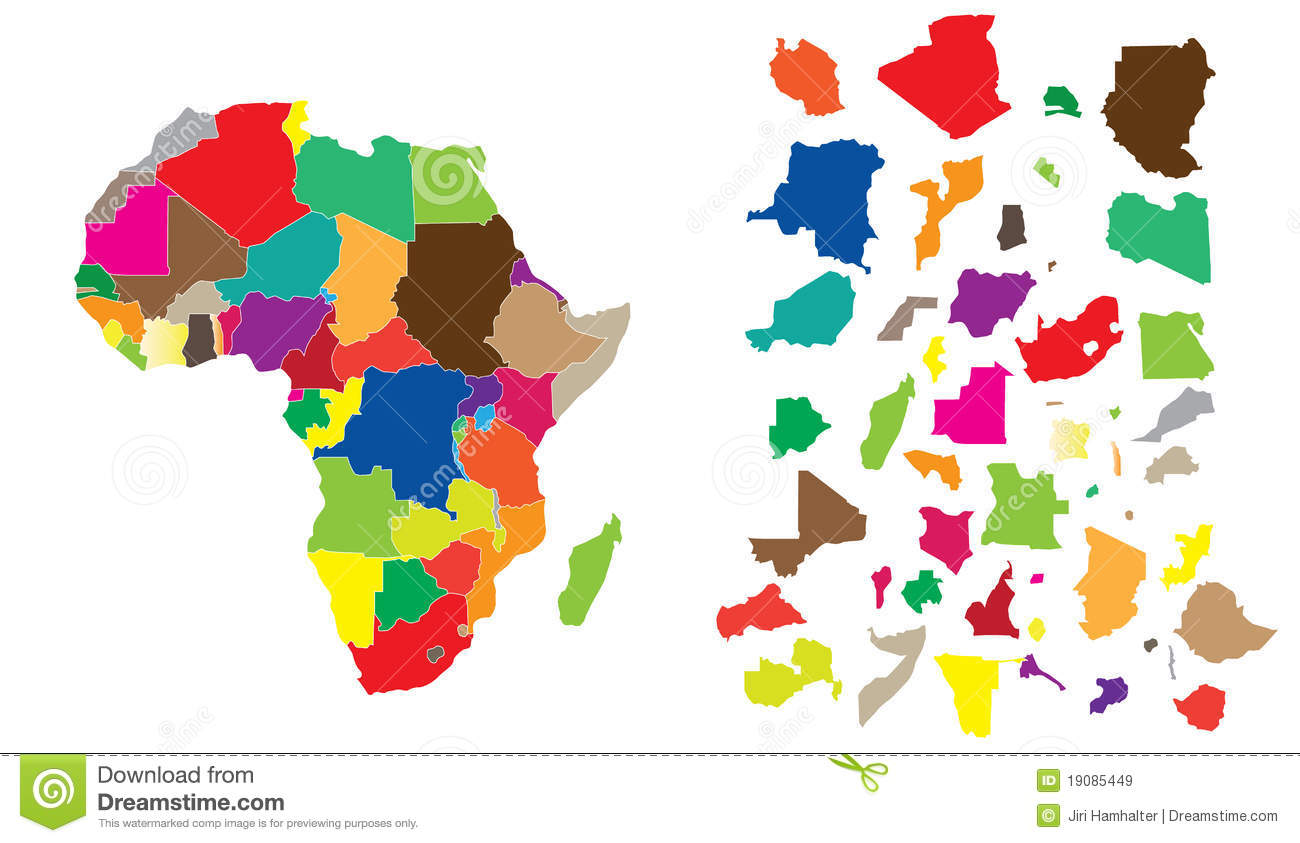 Africa Continent Puzzle Royalty Free Stock Images