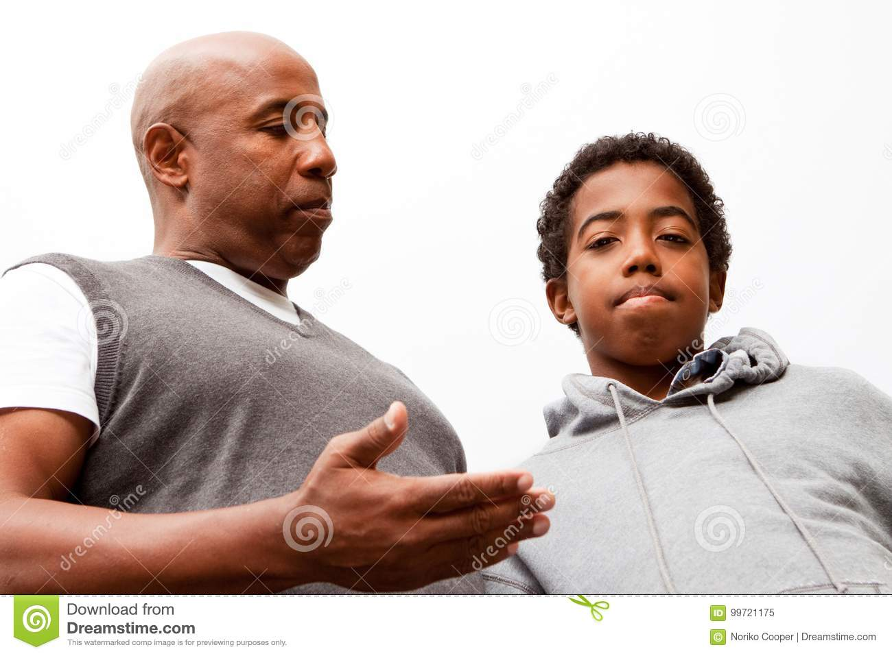 African American Father Parenting His Son Stock Image
