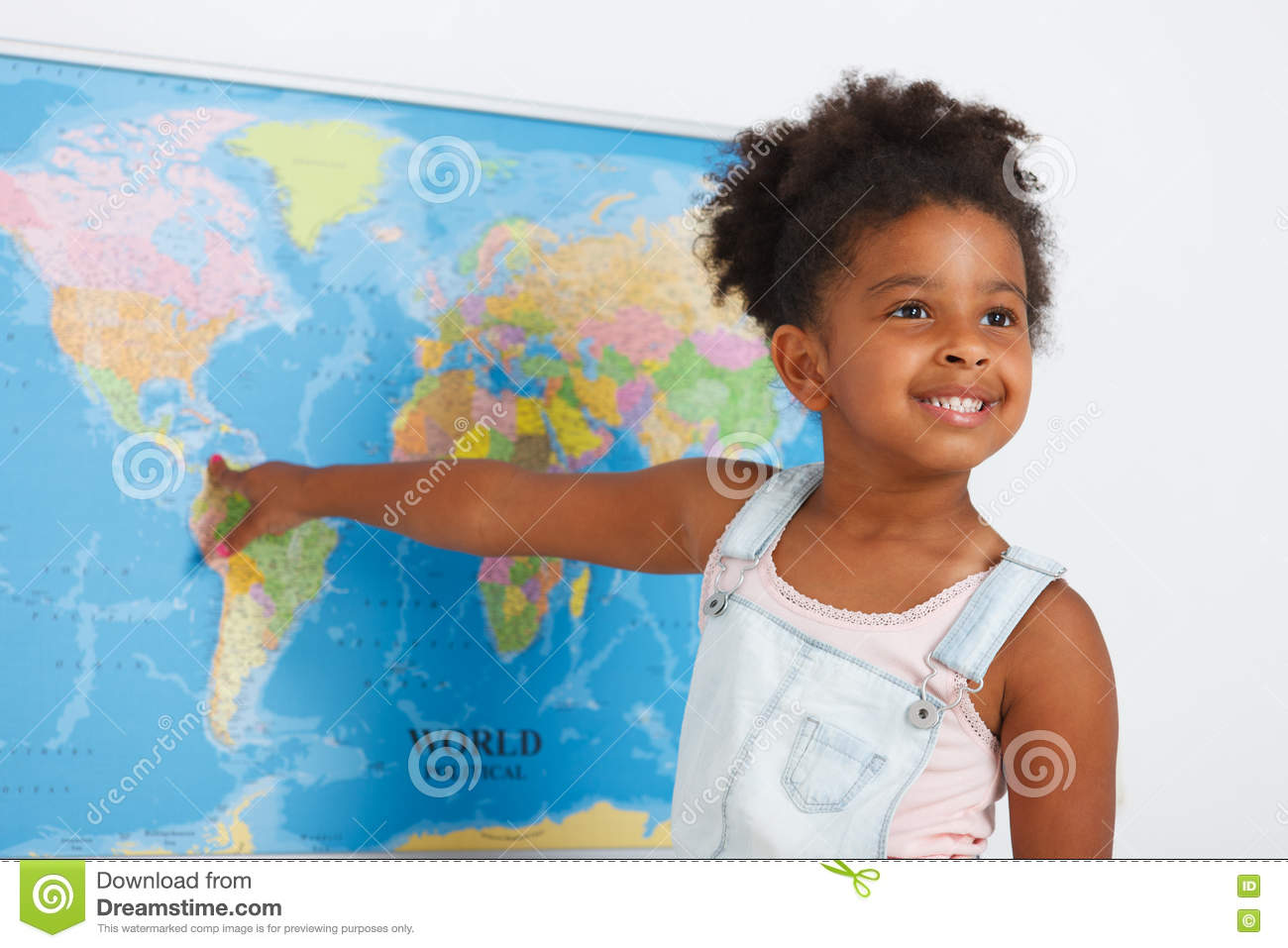 African American Preschool Girl Stock Photo