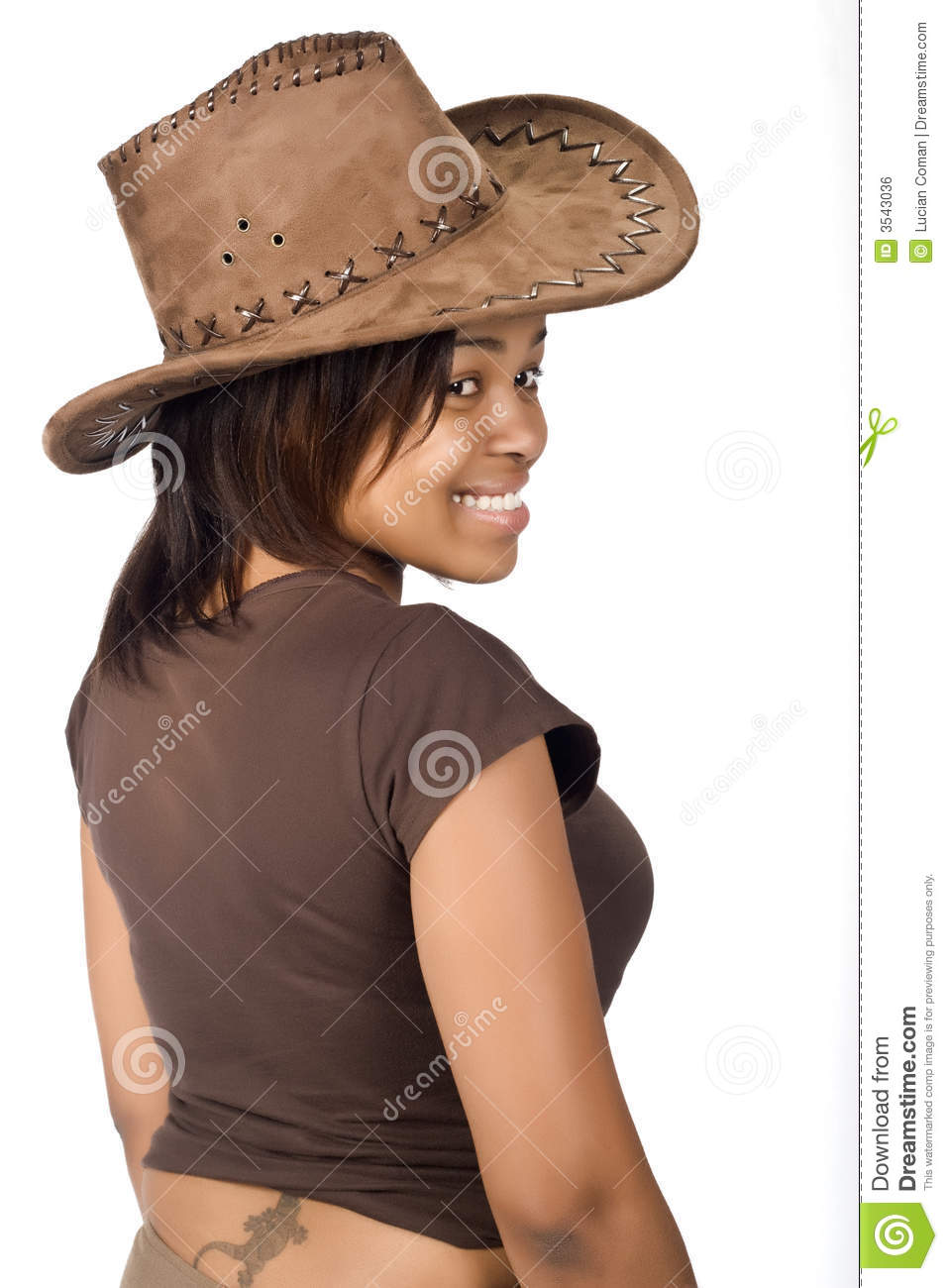 African Cowgirl Royalty Free Stock Image Image 3543036
