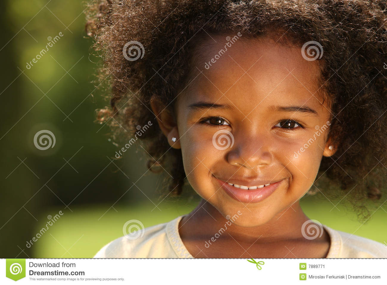 Afro Child Stock Image Image Of Grass Color Excitement