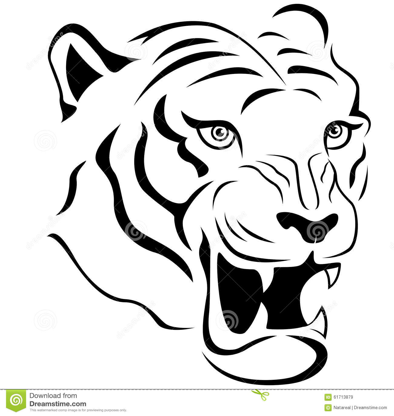 Tiger Face Clipart
