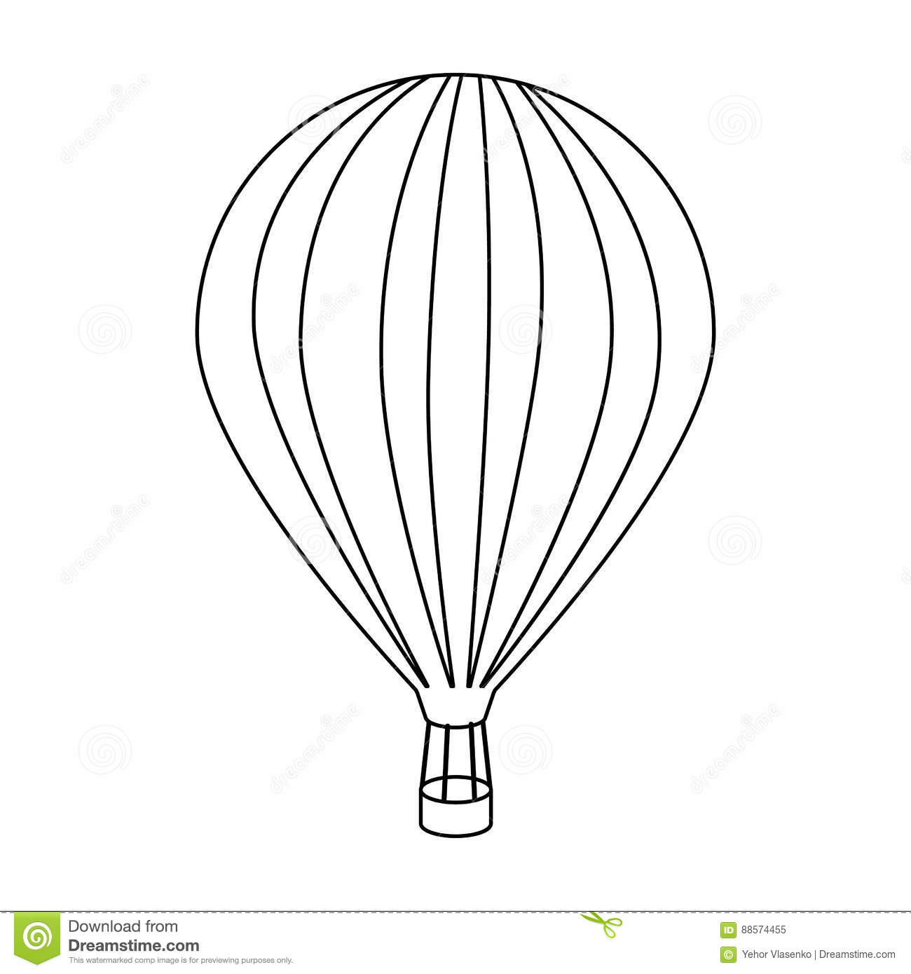 Air Balloon For Walking Transport Works On Warm Air
