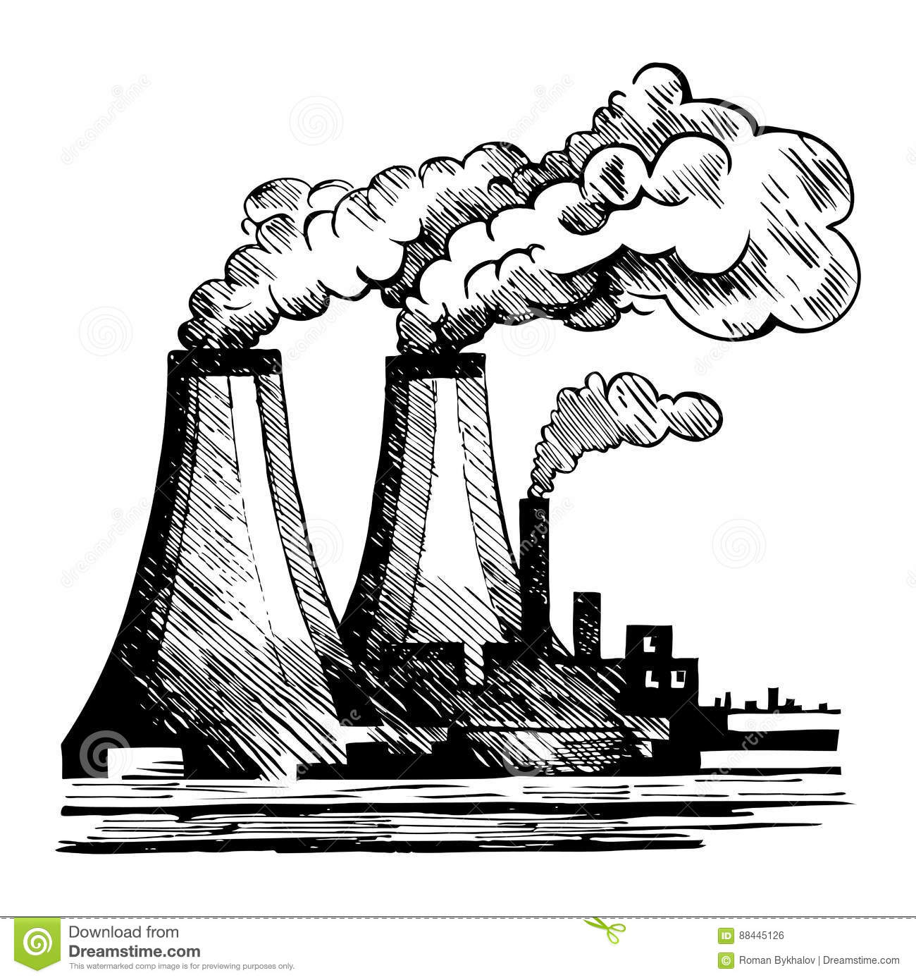 Air Ecology And The Problem Of Air Pollution Stock Vector