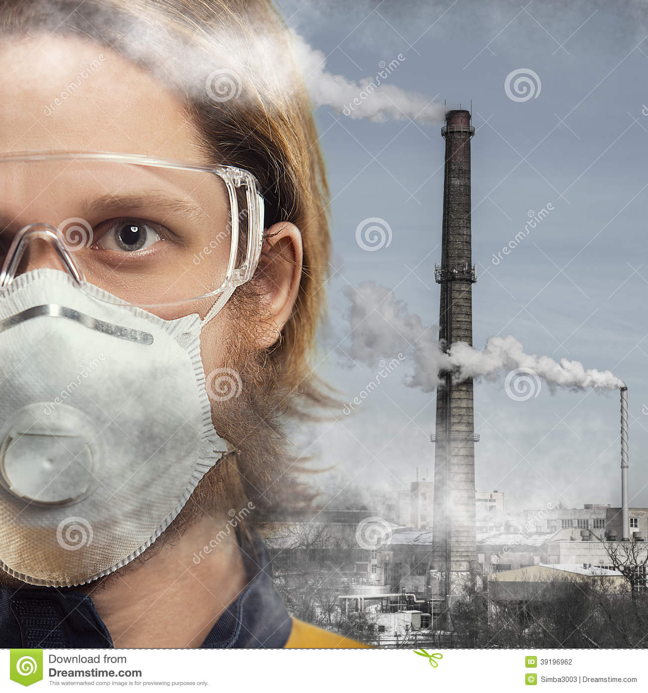 Air Pollution Stock Photo