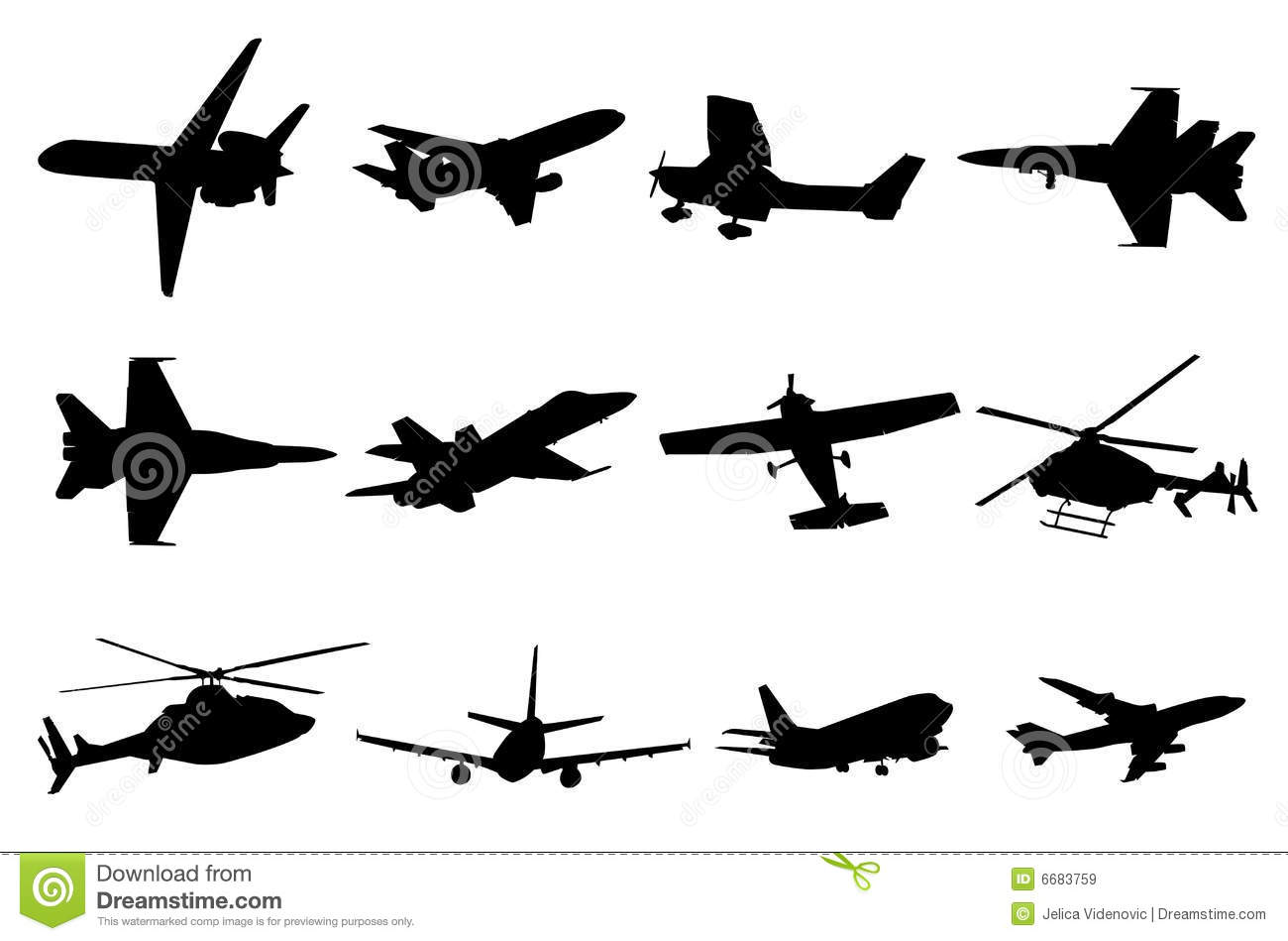 Aircraft Silhouettes Stock Vector Image Of Flight Travel