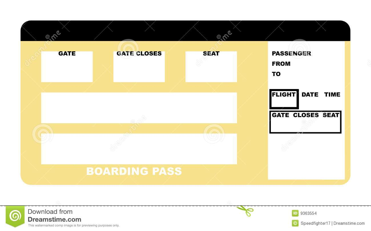 Champlain College Publishing  Fake Plane Ticket Template