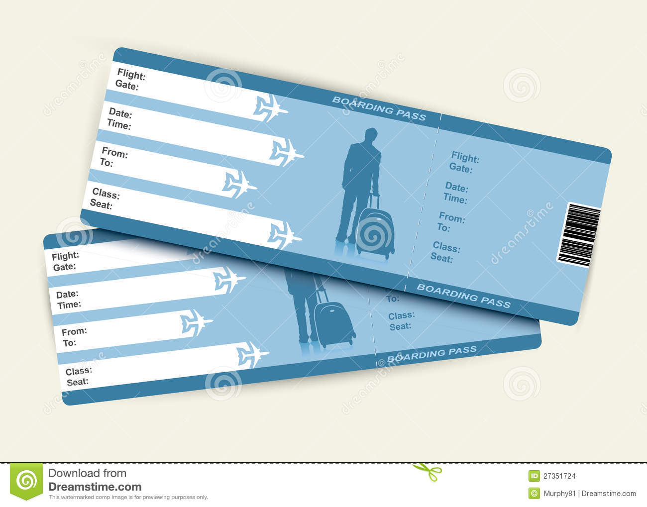 Airplane Tickets Stock Images Image 27351724