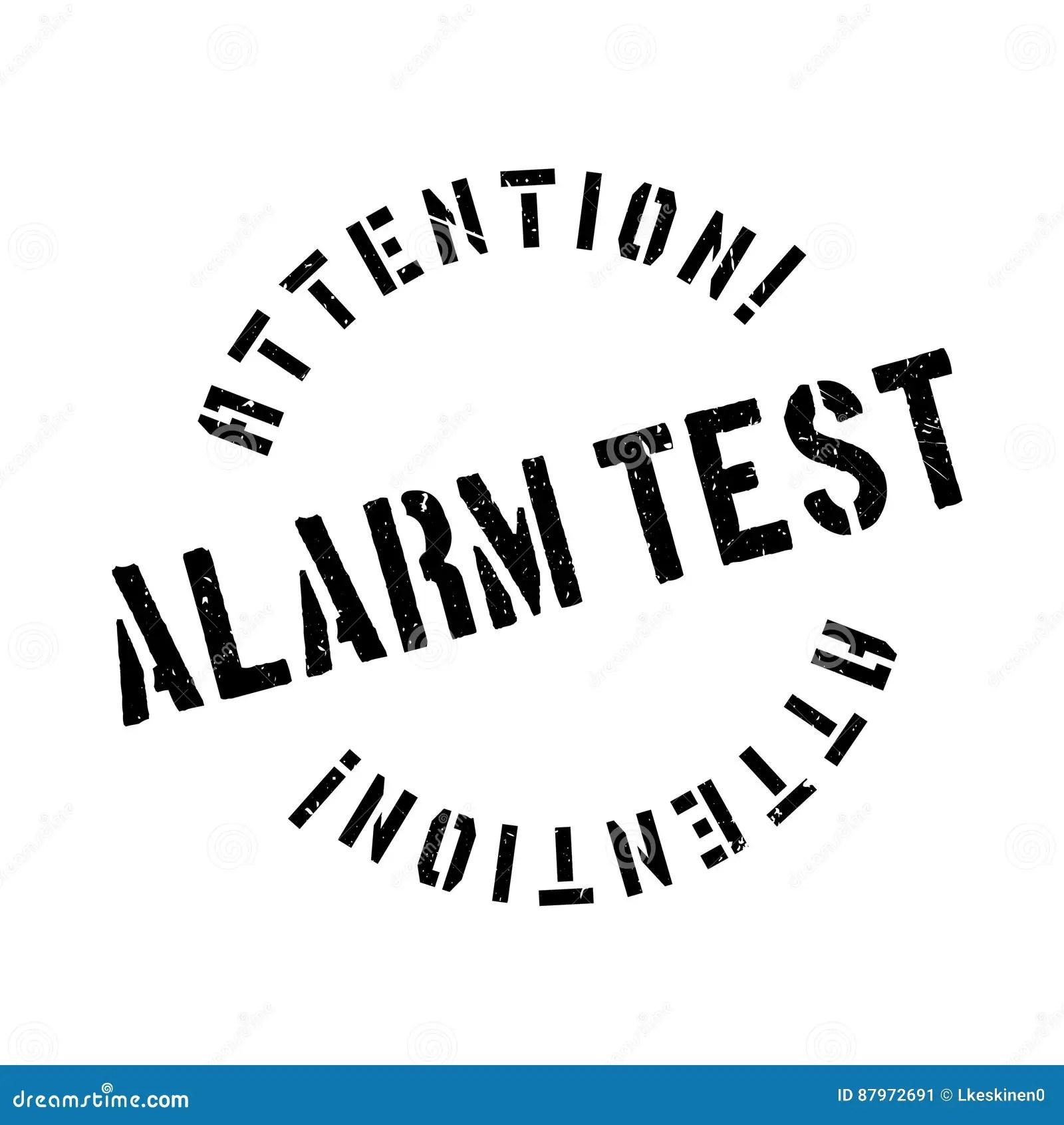 Alarm Test Rubber Stamp Stock Image