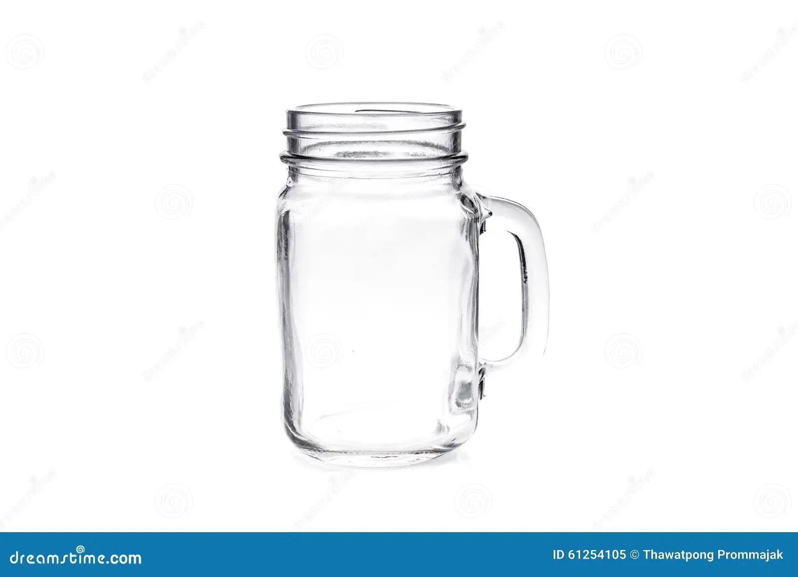 Albanil Vacio Jar Del Vintage Aislado En El Fondo Blanco