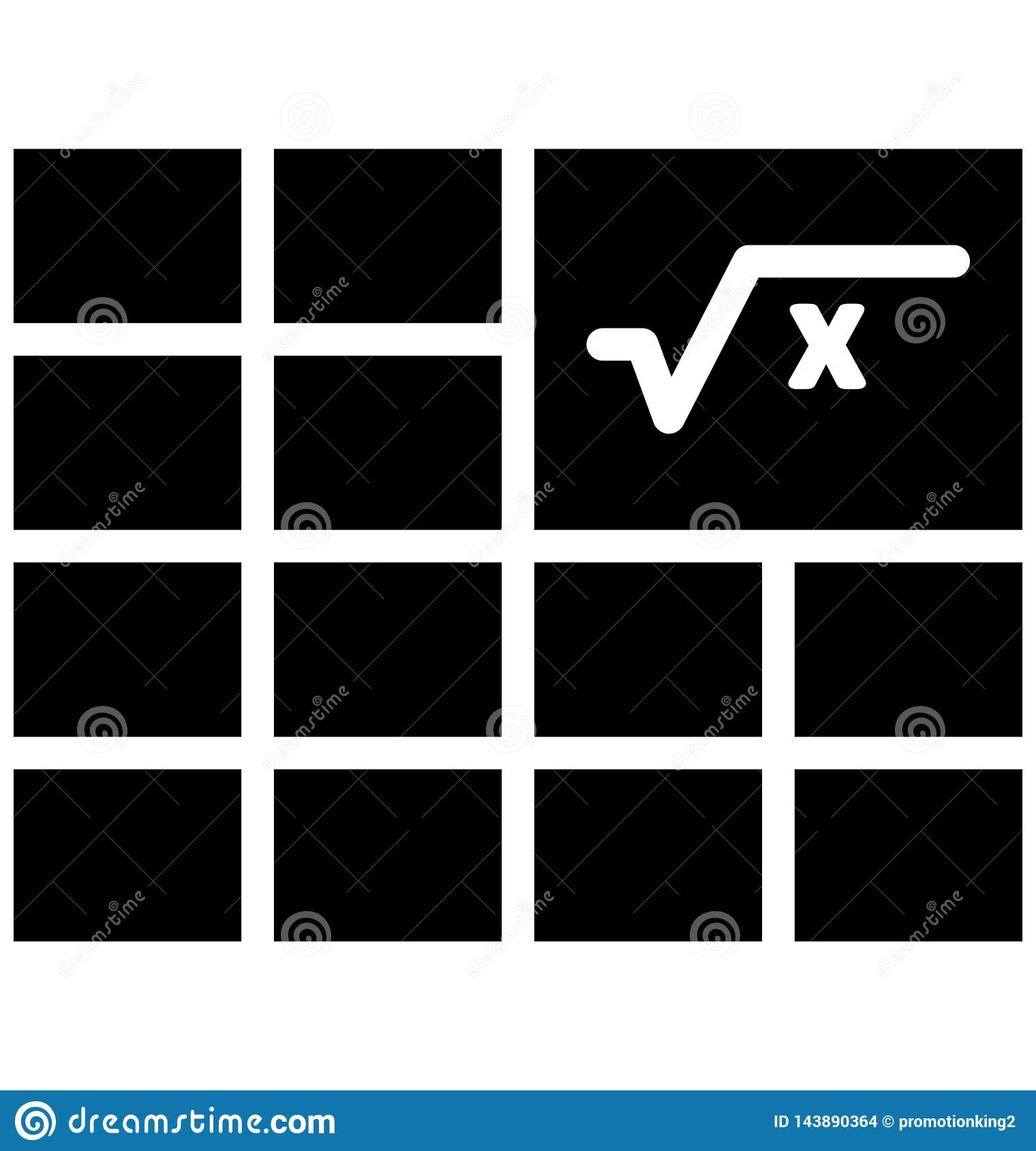 Algebra Isolated Vector Icon Which Can Easily Modify Or