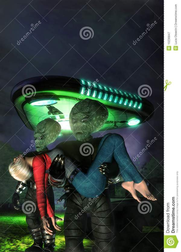 Alien Abduction Royalty Free Stock Photography Image